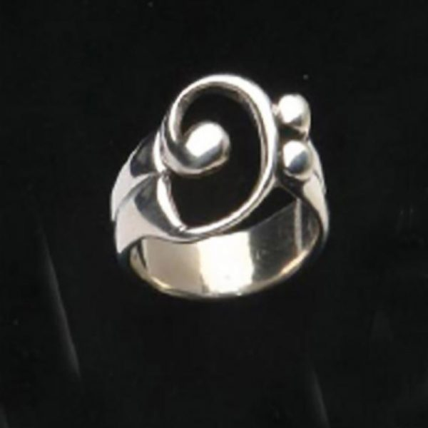 BASS CLEF RING - SILVER
