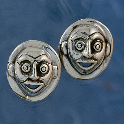Moon Mask Earrings